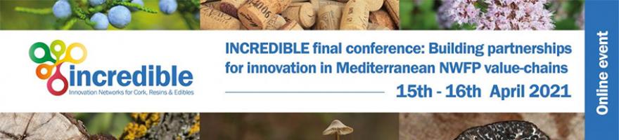 INCREDIBLE conferencia final: Creación de asociaciones para la innovación en las cadenas de valor de los productos forestales no madereros del Mediterráneo